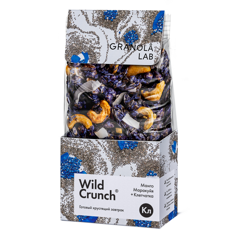 Сухой завтрак Granola Lab Wild Crunch Манго, маракуйя+ клетчатка 260г Россия
